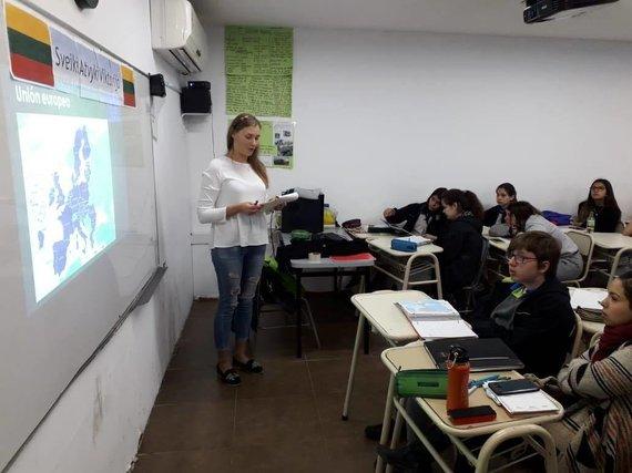 Asmeninio archyvo nuotr./KTU absolventės praktika Argentinoje