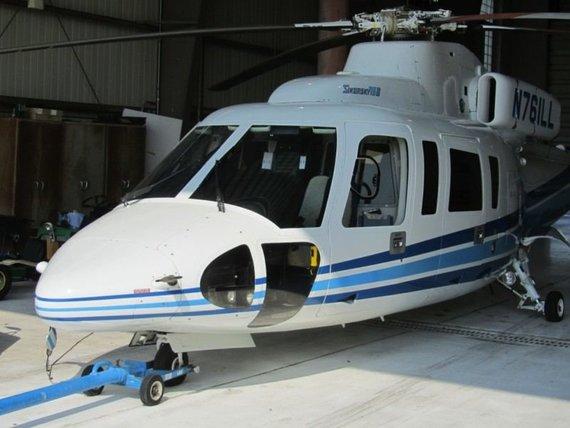 """Ilinojaus valstijos aukciono nuotr./""""Sikorsky S-76B"""", kuriuo skrisdamas žuvo Kobe Bryantas"""