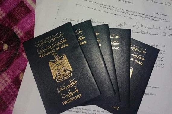 Ahmedo šeimos pasai ir prašymai išduoti vizą