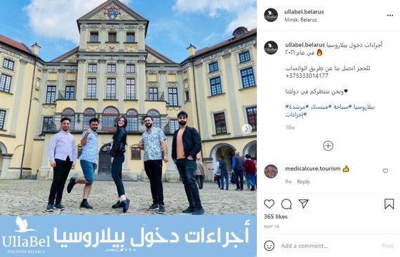 """""""Instagram"""" nuotr./Irakiečius į Minską kviečianti reklama"""
