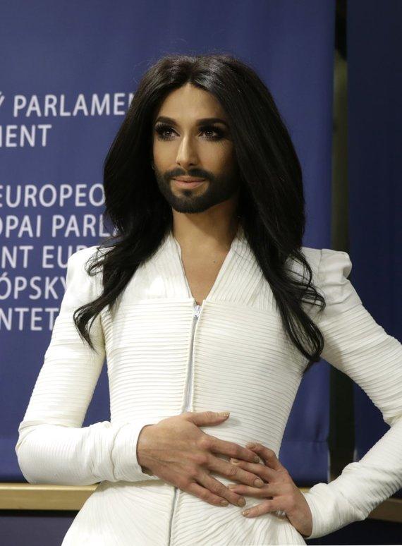 """""""Scanpix""""/AP nuotr./Eurovizijos nugalėtoja Conchita Wurst"""