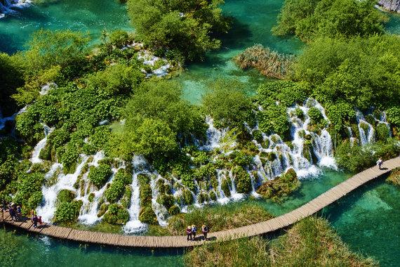 Vida Press nuotr./Plitvicų ežerai Kroatijoje