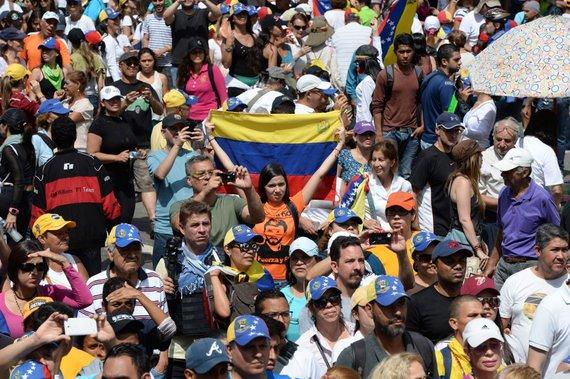 "AFP/""Scanpix"" nuotr./Opozicijos demonstracija Venesueloje"