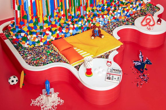 """""""Scanpix""""/""""Caters News Agency"""" nuotr./""""Lego"""" viešbutyje Danijoje – kambariai ir baldai iš kaladėlių"""
