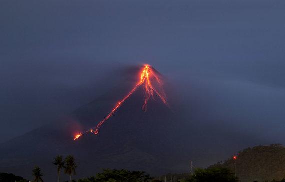 """""""Scanpix""""/AP nuotr./Ugnikalnio išsiveržimas Filipinuose"""