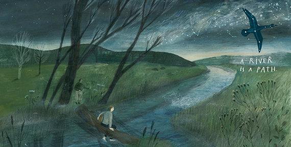 """Knygos iliustracija/Iliustracija iš Monikos Vaicenavičienės knygos """"What Is a River"""""""