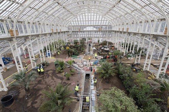 """AFP/""""Scanpix"""" nuotr./Londone po renovacijos atidaroma istorinė oranžerija su rečiausiais pasaulio augalais"""