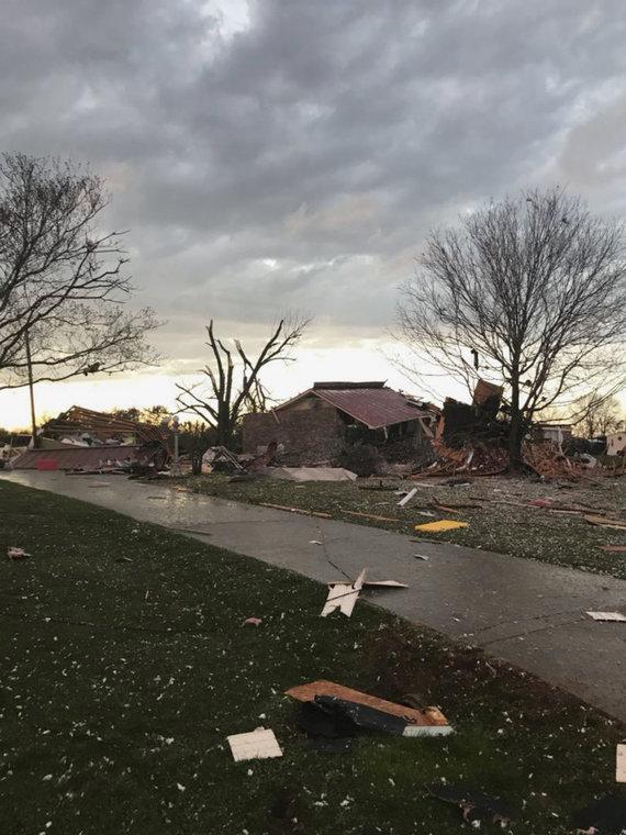 """""""Scanpix""""/AP nuotr./JAV pietryčius užklupo stiprios audros"""