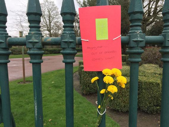 """""""Scanpix""""/""""PA Wire""""/""""Press Association Images"""" nuotr./Lietuvės Viktorijos nužudymo vieta Vulverhamptono miesto parke"""