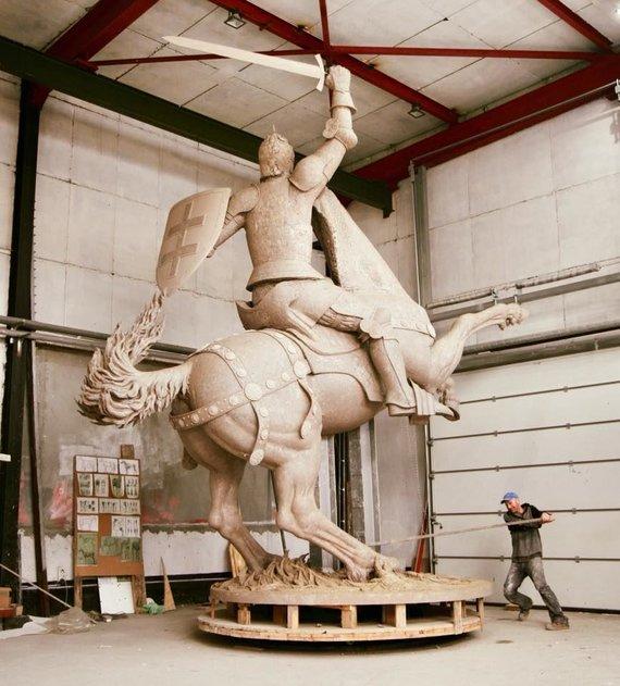 V.Ušacko nuotr./Vyčio skulptūra