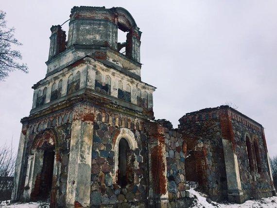 A. Dovydaitytės nuotr./4. Rudaminos Viešpaties Atsivertimo cerkvės griuvėsiai