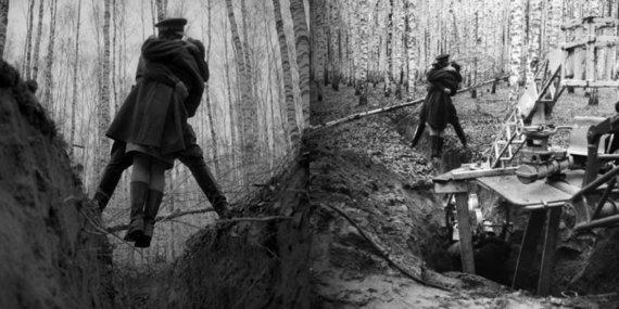 """Kadras iš filmo/Kadras iš A. Tarkovskio filmo """"Ivano vaikystė"""" ir jo išgavimas"""