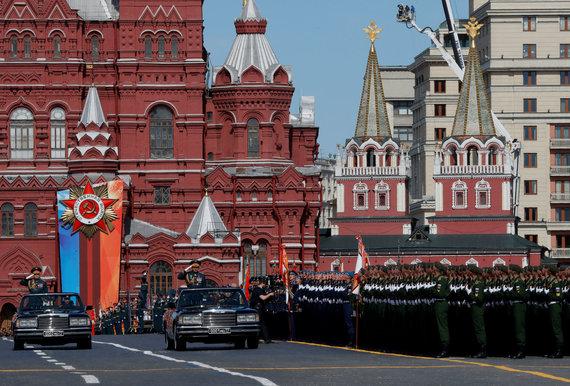 """""""Reuters""""/""""Scanpix"""" nuotr./Maskvos Raudonojoje aikštėje prasidėjo Pergalės dienos paradas"""