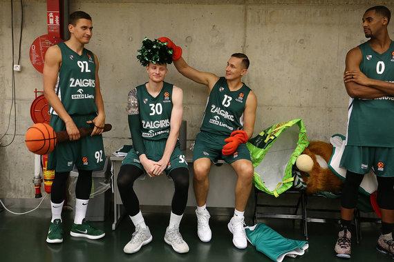 Getty Images/Euroleague.net nuotr./Edgaras Ulanovas, Aaronas White'as, Paulius Jankūnas ir Brandonas Daviesas