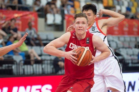 FIBA.com nuotr./Ignas Brazdeikis Kanados rinktinėje 2016 m.