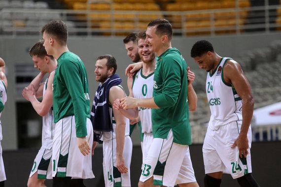Getty Images/Euroleague.net nuotr./Thomas Walkupas ir Paulius Jankūnas