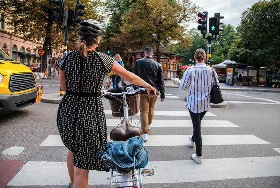 V. Uznevičiaus nuotr./Saugus eismas Stokholme