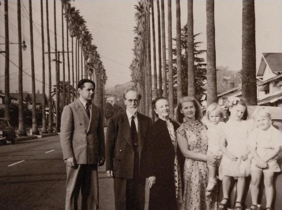 Archyvo nuotr./M.Biržiška su šeima.