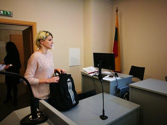 Karolinos Stažytės nuotr./Evelina Geležiūnienė teisme