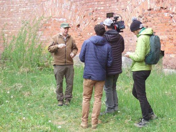 """Ovidijaus Jurkšos nuotr./""""Discovery"""" komanda kuria laidą apie Kauno tvirtovę"""