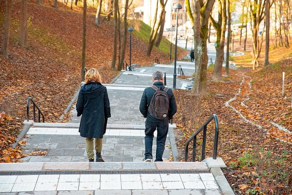 Kauno miesto savivaldybės nuotr./Kauko laiptai
