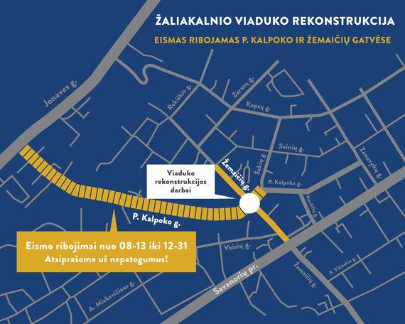 Kauno miesto savivaldybės nuotr./Bus rekonstruojama P.Kalpoko gatvė