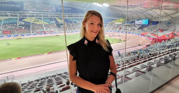 Ievos Horup asmeninio albumo nuotr./Ieva stadione Katare