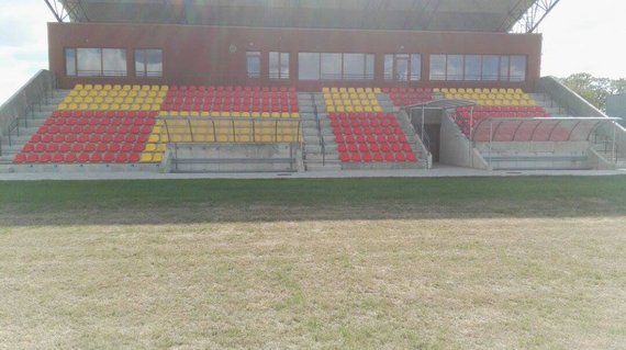 """Sporto klubo """"Vulkanas"""" nuotr./Jurbarko stadiono rekonstrukcija"""