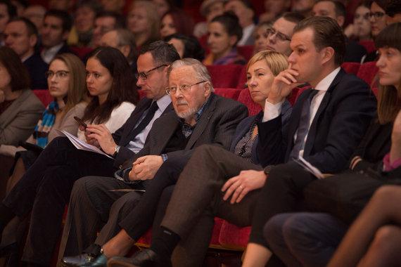 Mariaus Vizbaro / 15min nuotr./Ingridos Šimonytės ir Vygaudo Ušacko debatai