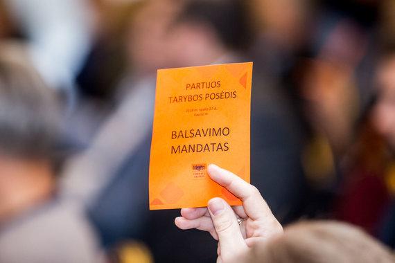 Mariaus Vizbaro / 15min nuotr./Liberalų sąjūdžio tarybos posėdis