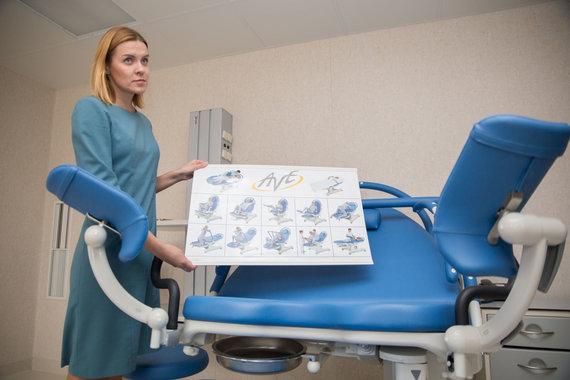 Mariaus Vizbaro / 15min nuotr./ Specializuota gimdymo lova