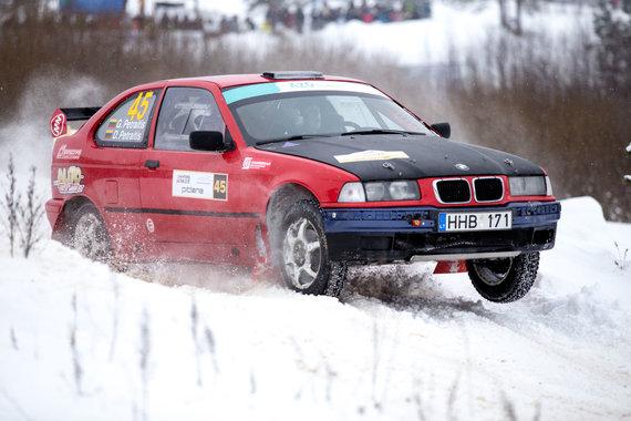 """Mariaus Vizbaro / 15min nuotr./Antra """"Winter rally"""" diena"""