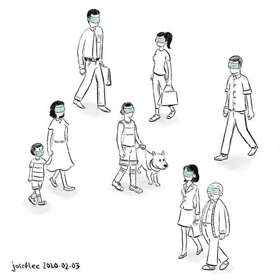 Josefo Lee iliustracija/Josefo Lee iliustracija apie koronavirusą 2020-02-03