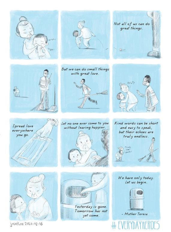 Josefo Lee iliustracija/Josefo Lee iliustracija apie koronavirusą 2020-02-16