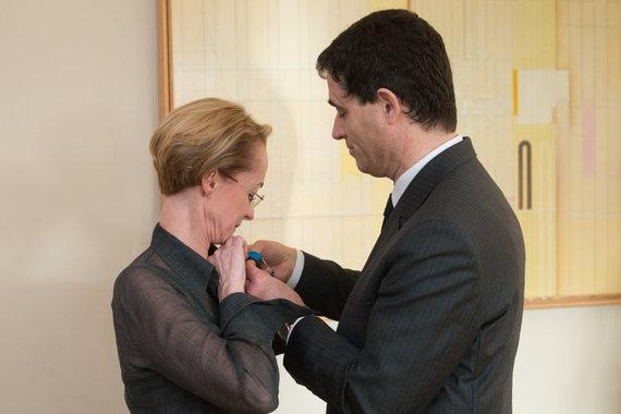 Vyginto Skaraičio nuotr./Rasa Starkus ir Prancūzijos ambasadorius Lietuvoje Philippe'as Jeantaudas