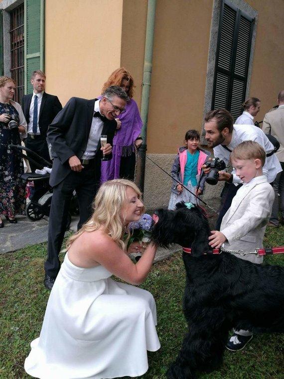 Asmeninė nuotr./Saulės Rinkevičiūtės ir Julieno Singer vestuvių akimirka