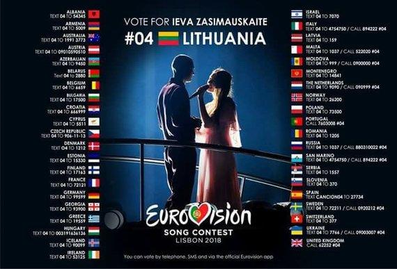 """LRT.lt nuotr./organizatorių iliustr./Informacija apie balsavimą """"Eurovizijoje"""""""