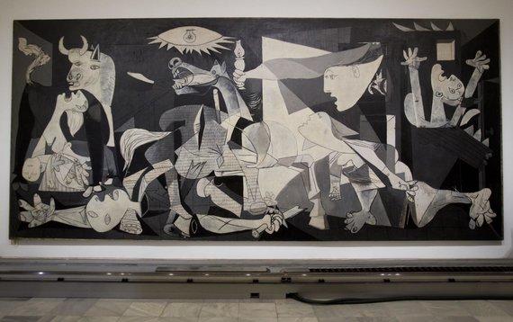 """Scanpix""/AP nuotr./Pablo Picasso paveikslas ""Gernika"""