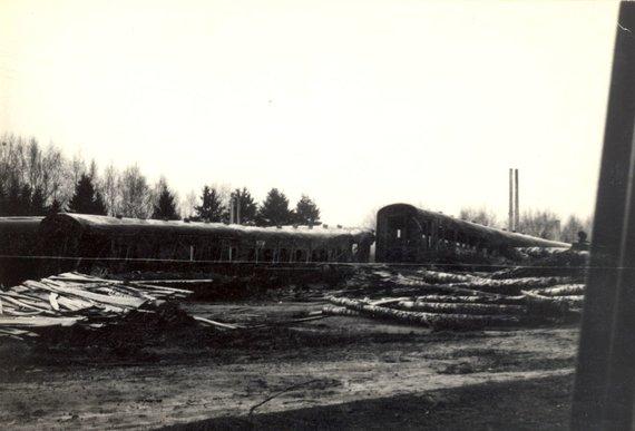 Kaišiadorių muziejaus nuotr., saugoma Kaišiadorių muziejuje/Žasliuose avariją patyręs traukinys