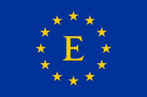 Wikipedia Commons pav./1985 m. pasiūlyta Europos Bendrijos vėliava