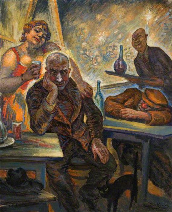"""epaveldas.lt nuotr. /Petro Kalpoko paveikslas """"Alkoholikas"""", 1935 m."""