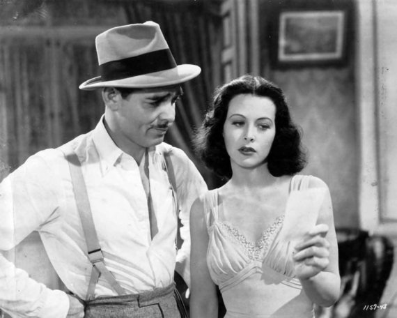 Wikimedia Commons nuotr./Hedy Lamarr ir Clarkas Gable'as, 1940 m.