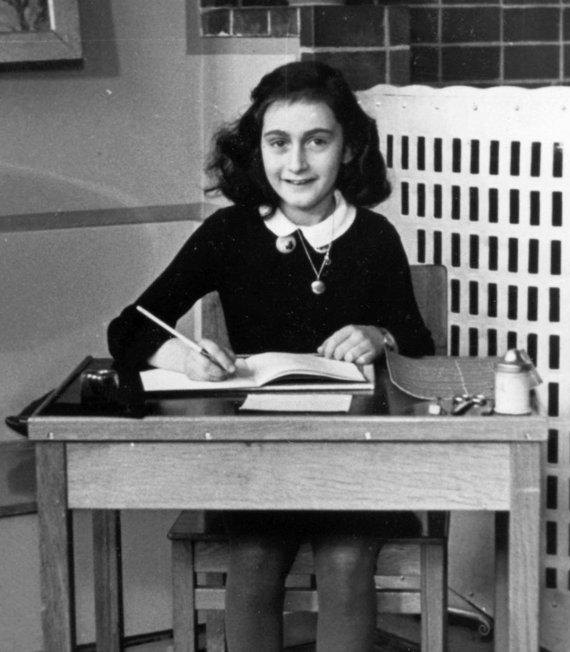 Anne Frank muziejaus nuotr./Anne Frank mokyklos suole