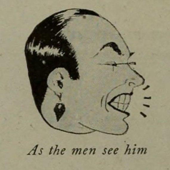 Wikimedia Commons nuotr./Karikatūra, kaip vyrai mato Valentino