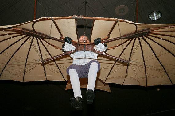 Nacionalinio JAV aeoronautikos ir kosmoso muziejaus nuotr./Vienas išlikusių Otto Lillienthalio sklandytuvų muziejuje