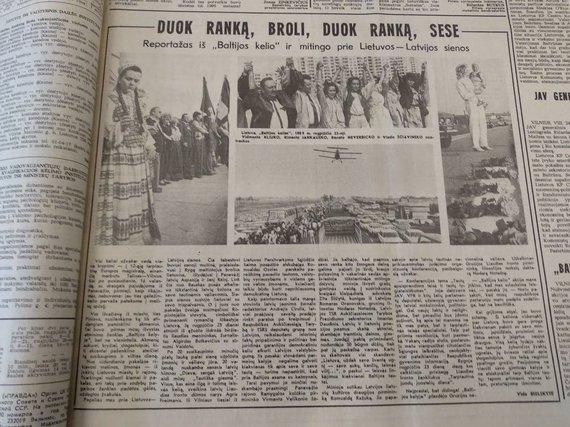 """Ugniaus Antanavičiaus nuotr./Straipsnis 1989 m. rugpjūčio 25 d. """"Tiesoje"""""""