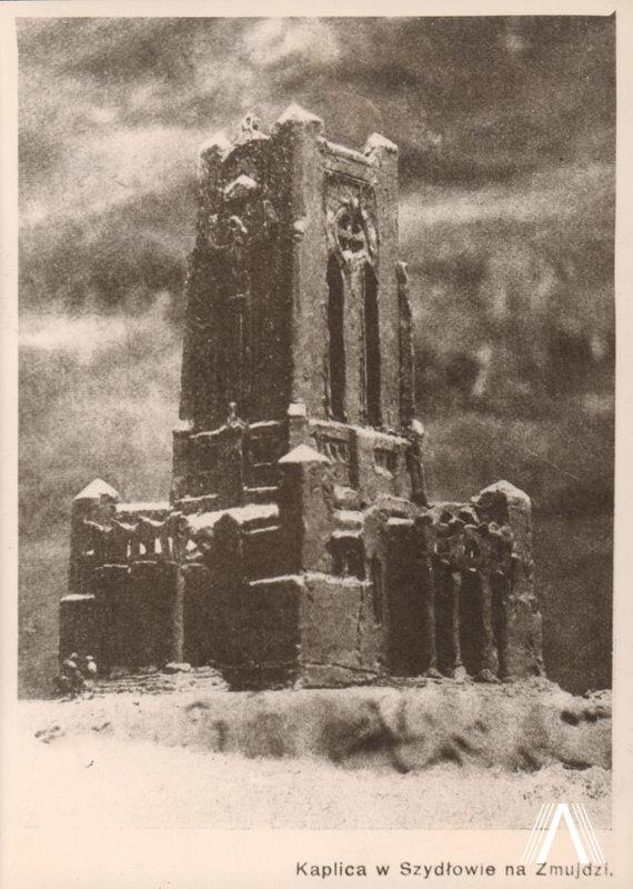 archivesofculture.com nuotr./Šiluvos Švč. Mergelės Marijos Apsireiškimo koplyčios maketas (A. Vivulskio maketas) 1922 m. nuotrauka