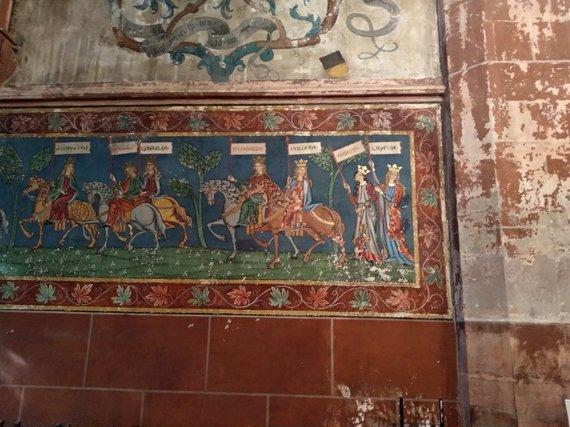 Ugniaus Antanavičiaus nuotr./Lietuvą vaizduojanti freska Strasbūro bažnyčioje iš toliau