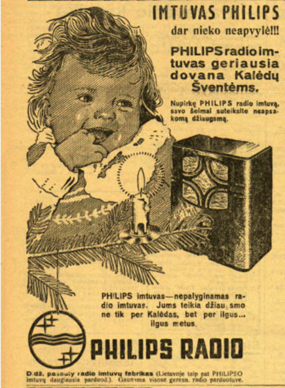 """epaveldas.lt nuotr. /""""Phillips"""" radijo imtuvo reklama Lietuvos žiniose"""