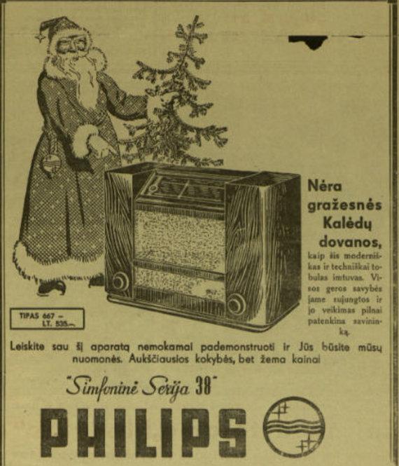 """epaveldas.lt nuotr. /""""Phillips"""" reklama laikraštyje """"Pažanga"""""""